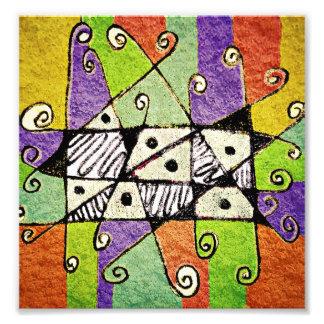 Mehrfarbiger Stammes- Druck-abstrakte Kunst Photodruck