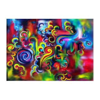 Mehrfarbiger Wirbel Acryl Wandkunst