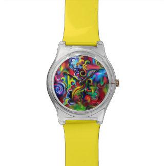 Mehrfarbiger Wirbel Armbanduhr