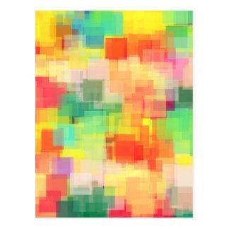 Mehrfarbiges abstraktes geometrisches Muster Postkarte