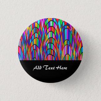 Mehrfarbiges beflecktes Glas-Mosaik-abstrakte Runder Button 2,5 Cm