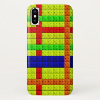 Mehrfarbiges Blockmuster iPhone X Hülle