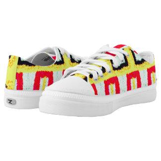 mehrfarbiges cooles Muster abstrakt Niedrig-geschnittene Sneaker