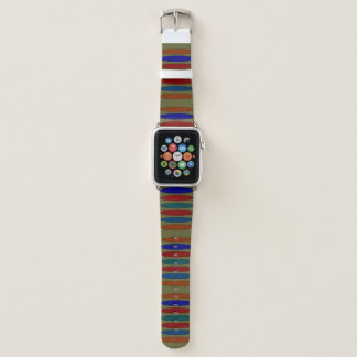 Mehrfarbiges ovales/Striped Apple-Uhrenarmband Apple Watch Armband