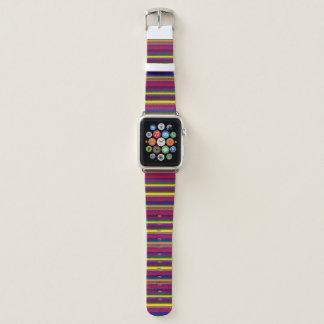 Mehrfarbiges/Regenbogen-gestreiftes Apple Watch Armband