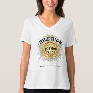 Meilen-hoher Autorn-Ereignis V-Hals Frauen T-Shirt
