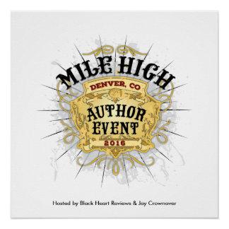 Meilen-hohes Autorn-Ereignis-Plakat Poster