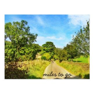 Meilen zum zu gehen… postkarte
