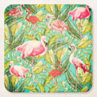 Mein Aloha Dschungel-Vogel-Flamingo-Garten Rechteckiger Pappuntersetzer