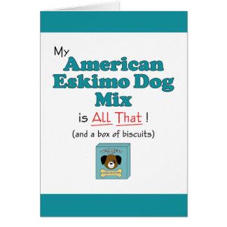 Mein amerikanischer Eskimohund ist aller das! Grußkarte