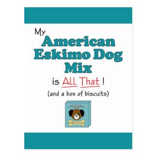 Mein amerikanischer Eskimohund ist aller das! Postkarten