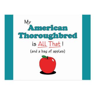 Mein amerikanischer Thoroughbred ist aller das! Postkarte