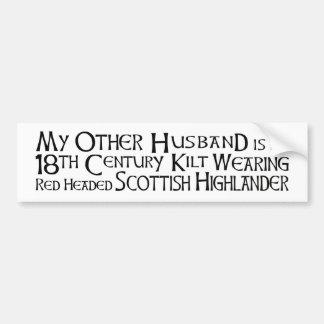Mein anderer Ehemann - Hochländer Autoaufkleber