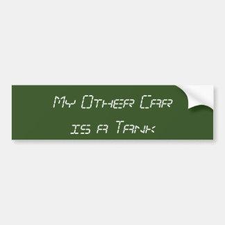 Mein anderes Auto ist ein Behälter Autoaufkleber