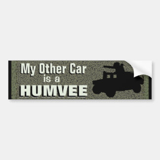 Mein anderes Auto ist ein Humvee lustiges Militär Autoaufkleber