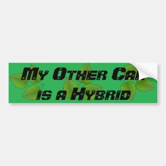 Mein anderes Auto ist ein hybrider grüner Autoaufkleber