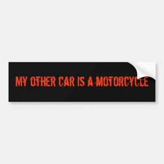 Mein anderes Auto ist ein Motorrad-Autoaufkleber Autoaufkleber