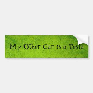 Mein anderes Auto ist ein Tesla Autoaufkleber