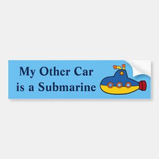 Mein anderes Auto ist ein Unterseeboot Autoaufkleber