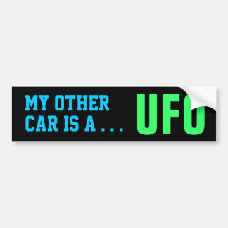 MEIN ANDERES AUTO - UFO-Autoaufkleber Autoaufkleber