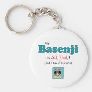 Mein Basenji ist alles das! Standard Runder Schlüsselanhänger