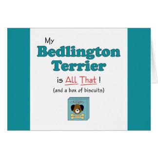Mein Bedlington Terrier ist alles das! Karte