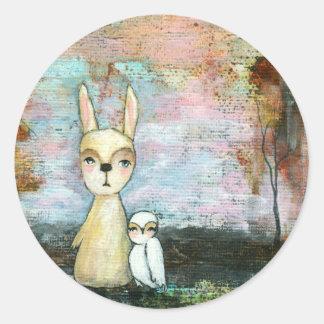 Mein bester Freund, Baby-Kaninchen, Runder Aufkleber