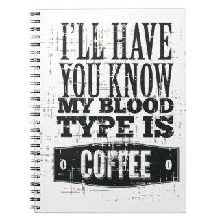 Mein Blutgruppe-Notizbuch Notizblock