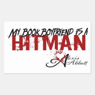 Mein Buch-Freund ist ein Hitman Rechteckiger Aufkleber