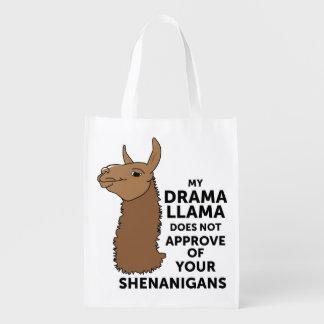 Mein Drama-Lama genehmigt nicht Ihre Shenanigans Wiederverwendbare Einkaufstasche