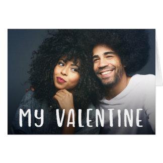 Mein einfacher moderner Text des Valentine-| und Karte