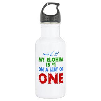 Mein Elohim ist #1 auf einer Liste von einer Trinkflasche