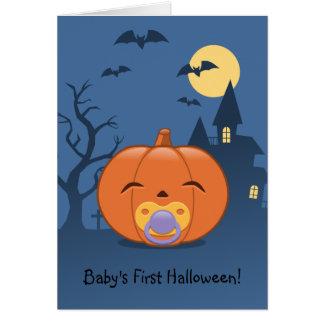 Mein erster Halloween-Schnuller-Kürbis Karte