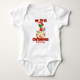 Mein erster Weihnachtsdinosaurier Baby Strampler