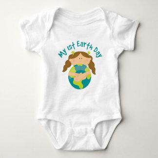 Mein erstes Tag der Erde-Mädchen Baby Strampler