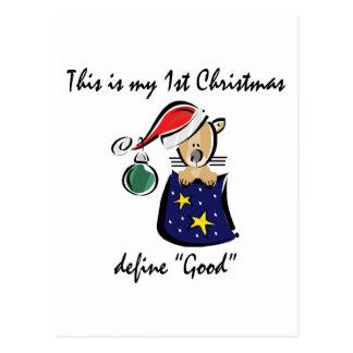 Mein erstes Weihnachten Postkarte