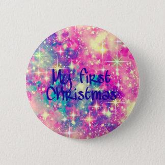 Mein erstes Weihnachten Runder Button 5,1 Cm