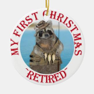 Mein erstes Weihnachten zurückgezogen Rundes Keramik Ornament