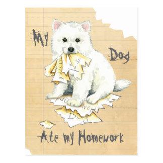 Mein Eskie aß meine Hausaufgaben Postkarten
