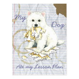 Mein Eskie aß meinen Unterrichtsplan Postkarte