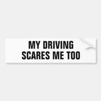 Mein Fahren erschrickt mich auch Autoaufkleber