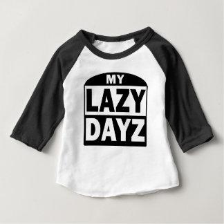 Mein fauler Dayz niedlicher lustiger Hülse Blach Baby T-shirt