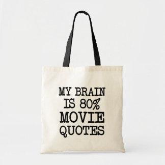 Mein Gehirn ist lustige Sprichworttasche der 80% Tragetasche