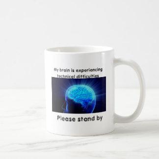 Mein Gehirn stößt auf technische Schwierigkeiten Kaffeetasse