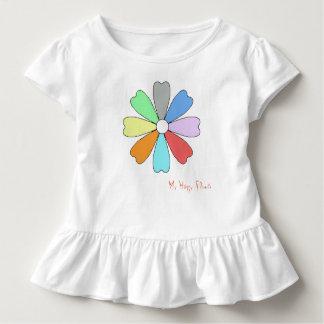 Mein glückliches Blumen-Kleinkindraffle-T-Stück Kleinkind T-shirt