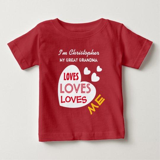 Mein GROSSES - GROSSMUTTER Lieben ich Baby T-shirt