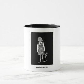 """""""Mein Häschen und ich"""", Schwarzweiss Tasse"""