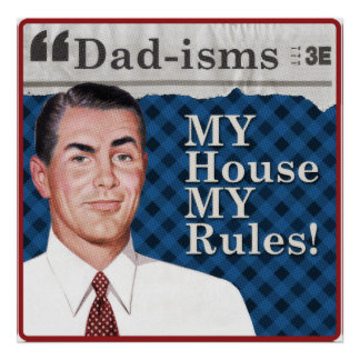 MEIN Haus MEIN Regelplakat Poster