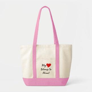 Mein Herz gehört Alina IV Einkaufstaschen