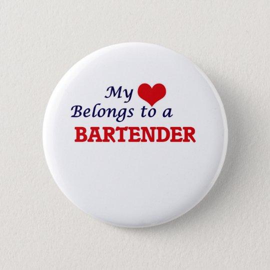 Mein Herz gehört einem Barkeeper Runder Button 5,1 Cm
